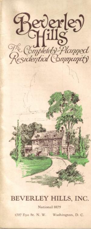 Beverley Hills pamphlet cover